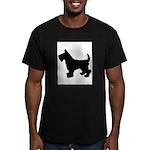 Scottish Terrier Silhouette Men's Fitted T-Shirt (