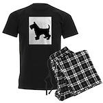 Scottish Terrier Silhouette Men's Dark Pajamas