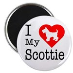 I Love My Scottish Terrier Magnet