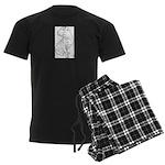 Shar Pei Line Drawing Men's Dark Pajamas
