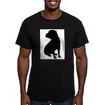 Shar Pei Silhouette Men's Fitted T-Shirt (dark)