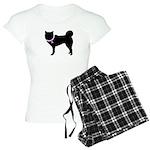 Siberian Husky Breast Cancer Women's Light Pajamas