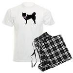 Siberian Husky Breast Cancer Men's Light Pajamas
