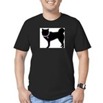 Siberian Husky Breast Cancer Men's Fitted T-Shirt