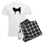 Siberian Husky Silhouette Men's Light Pajamas