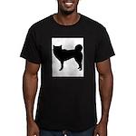 Siberian Husky Silhouette Men's Fitted T-Shirt (da