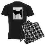 Siberian Husky Silhouette Men's Dark Pajamas