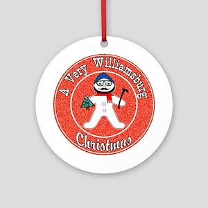 A Very Williamsburg Christmas Ornament (Round)