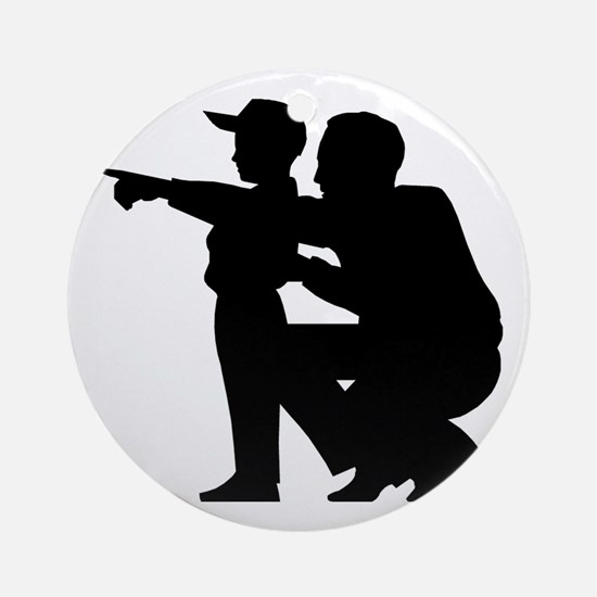 Coaching Silhouette Ornament (Round)