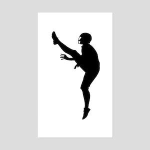 Football Silhouette Sticker (Rectangle)
