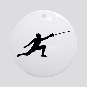 Fencing Lunge Ornament (Round)