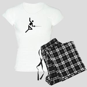 Fencing Silhouette Women's Light Pajamas
