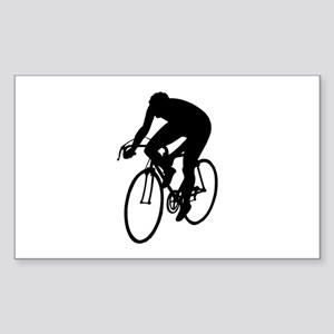 Cycling Silhouette Sticker (Rectangle)