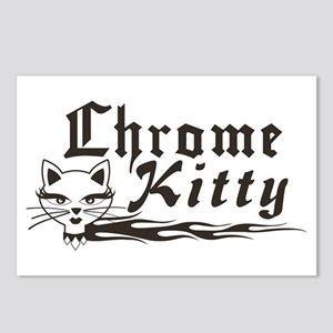 Chrome Kitty B&W Postcards (Package of 8)