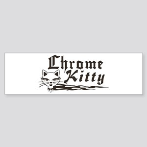 Chrome Kitty B&W Bumper Sticker