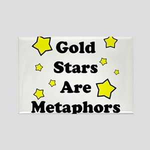 Gold Stars are Metaphors Rectangle Magnet