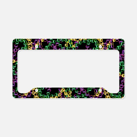 Throw Me Beads License Plate Holder