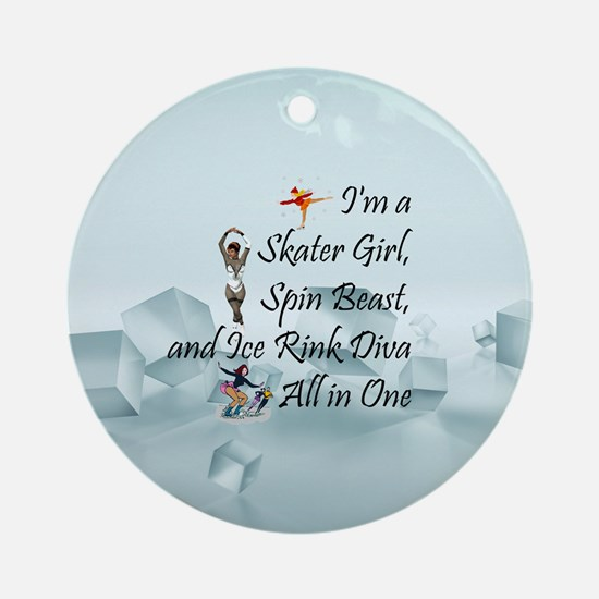 TOP Ice Rink Diva Ornament (Round)