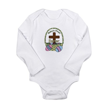 Baby's First Easter (Basket) Long Sleeve Infant Bo