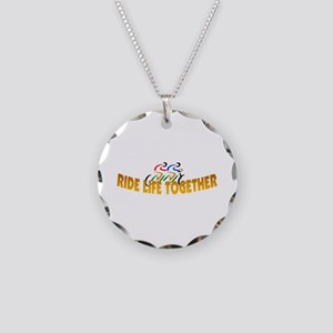 RIDE LIFE TOGETHER Necklace Circle Charm