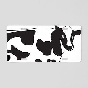 Cow 1 Aluminum License Plate