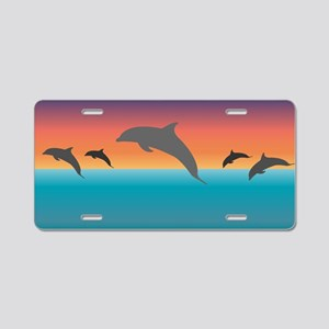 Dolphin 1 Aluminum License Plate
