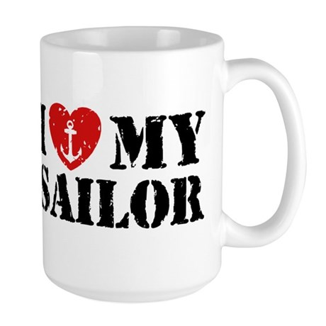 I Love My Sailor Large Mug