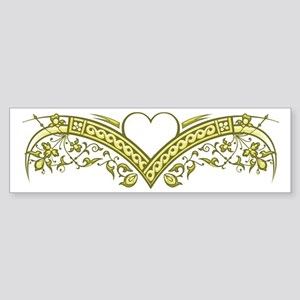 Curve Appeal (gold) Sticker (Bumper)