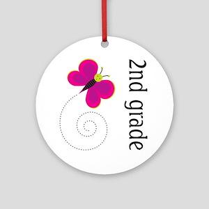 Good Teacher Gift 2nd Grade Ornament (Round)