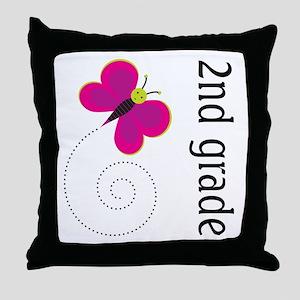 Good Teacher Gift 2nd Grade Throw Pillow