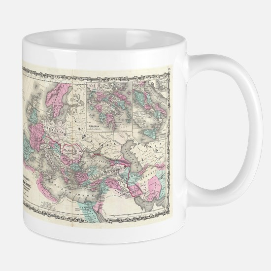 Vintage Map of The Roman Empire (1862) Mugs