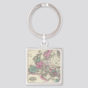 Vintage Map of The Roman Empire (1862) Keychains