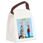 Car Fanatic Baby Name Brainstorm Canvas Lunch Bag