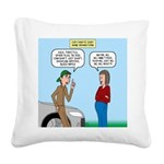 Car Fanatic Baby Name Brainst Square Canvas Pillow