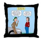 Car Fanatic Baby Name Brainstorm Throw Pillow