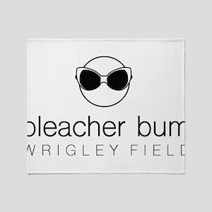 Bleacher Bum Wrigley Field Throw Blanket
