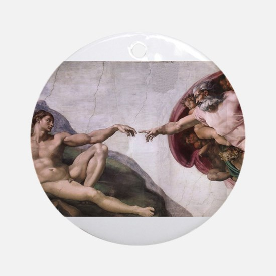 Creation of Adam Ornament (Round)