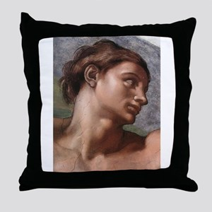 Creation of Adam (detail- Ad Throw Pillow
