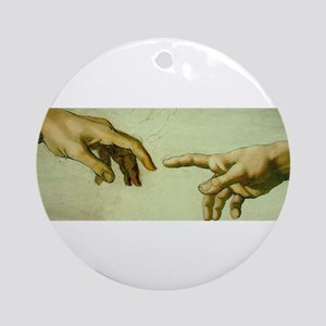 Creation of Adam (detail - Ha Ornament (Round)