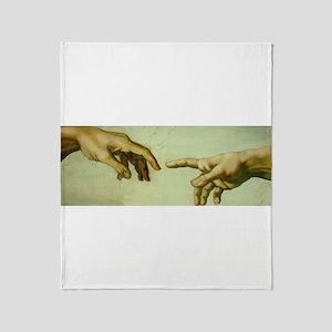 Creation of Adam (detail - Ha Throw Blanket