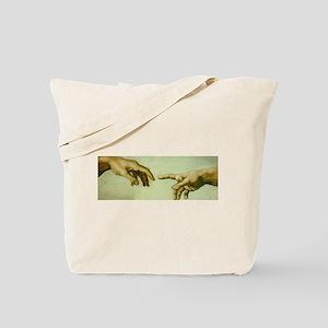 Creation of Adam (detail - Ha Tote Bag