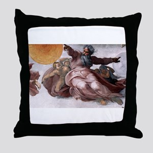 Creation of Sun, Moon, and Pl Throw Pillow