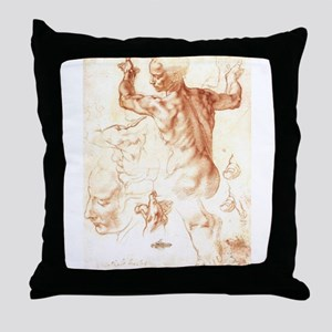 Drawing for the Libyan Sybil Throw Pillow