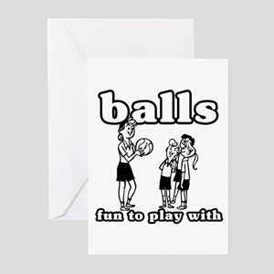 Balls are Fun Greeting Cards (Pk of 10)