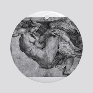 Leda and the Swan Ornament (Round)