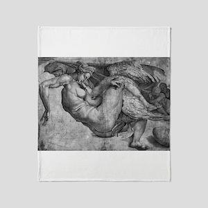Leda and the Swan Throw Blanket