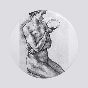 Nude Woman on her Knees Ornament (Round)