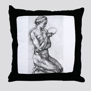 Nude Woman on her Knees Throw Pillow