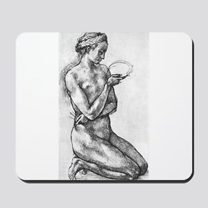 Nude Woman on her Knees Mousepad