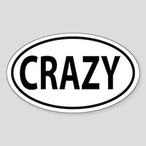 Crazy oval sticker Sticker (Oval)
